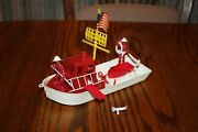 Mpc Vintage Harbor Fireboat And Firemen Or Fire Fighters Tank - Marx, Timmee