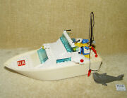 Lego Sets Boat 4011-1 Cabin Cruiser 1991 100 With Minifigs Floats Shark