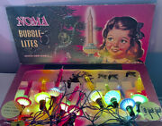Vintage Noma Christmas 🎄 Bubble Lights Lites C6 Biscuit-saucer And Clips Works
