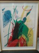 Paul Jenkins 1970 Color Screen Print Signed Twice Excellent Condition