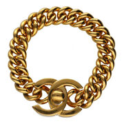 Authentic Used Vintage Bracelet Coco Mark Gold 96p Metal 21010047as