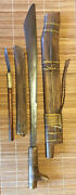 Mid 20th C. Sulawesi, Indonesia, Llang Parang/sword And Penat Knife And Sheaths