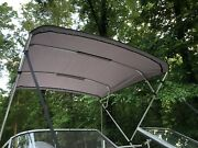 Replacement Bimini Top Canvas+boot Grey 8and039long 8.5and039wide16oz Lifetime Warranty
