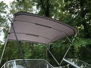 Replacement Bimini Top Canvas+boot Grey 9and039long 8.5and039wide16oz Lifetime Warranty