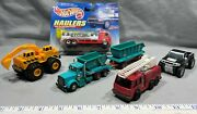 Lot Of 5 Fire Rescue, Dumpster/trailer, Hummer Trucks And Tractor Loader Diecast