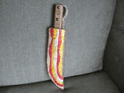 Antique Original 1800s Crow Indian Native American Scalp Knife And Quill Sheath