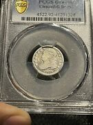 1833 Capped Bust Dime _ Pcgs Gold Shield Cleaned G Detail Really Old Dime