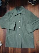 Vintage V2 By Gianni Versace Button Down Suede Jacket Medusa Head Italy 2xl