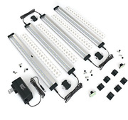 Eshine 4 Panels 12 Inch Led Dimmable Under Cabinet Lighting Kit Hand Wave -