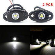 White 9w High Power Led Rock Light Kit For Jeep Truck Suv Off-road Boat