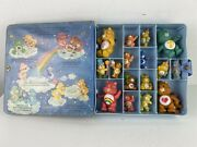 Vintage Care Bears Posable Figures Collector Case Lot 1980and039s