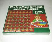 Vintage 1987 Worldand039s Most Difficult Jigsaw Puzzle 500 Piece Expert Edition New