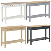 Entry/sofa Console Table W/drawer And Open Shelf For Entryway/living Room Wooden