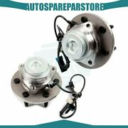 2 Pcs Front Lh Or Rh Wheel Hub Bearing Assembly For Gmc Chevy 2wd W/abs 6 Lugs