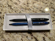 Rare Cross Century Lll Pair Black And Blue, Ballpoint Pens Chrome Appointments