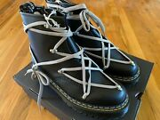 Rick Owens X Doc Martens 1460 Bex Leather Lace Boots - Size Us 7.5 Brand New