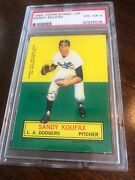 1964 Topps Stand Up Sandy Koufax Psa 4 Vg-ex Vintage Baseball Card Low Pop Count