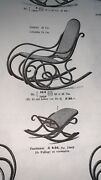 Antique Thonet Rocking Chair Plus Foot Stool Not Restored In Original Condition