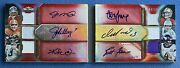 2012 Topps Triple Threads Double Combos Auto Relic Book 6x Montana Elway D /27
