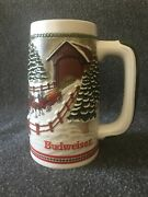 Anheuser Busch Clydesdale Stein Limited Edition Collectible Holds 18 Fl Oz Xmas