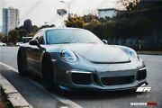 2013-2016 Carrera 991 Gt3 Style Front Bumper With Carbon Front Lip / Mesh Grill