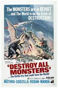 284943 Destroy All Monsters Movie Poster Print Ca