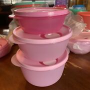 Tupperware Crystalwave Microwaveable Containers Set Of 3 Pink