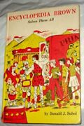 Weekly Reader Books Presents Encyclopedia Brown Solves By Donald J Sobol Vg+