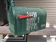 Vintage Large Rustic Galvanized Steel Us Mailbox Steel City Mfg Co Youngstown Oh