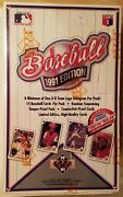 1991 Edition Upper Deck Baseball Cards Collectors Choice Box Factory Sealed