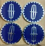 Lincoln Wire Wheel Emblems 4 Blue And Chrome Size 2.25 Zenith Style