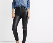 Madewell 11 High-rise Skinny Jeans Leather Edition Ad846 398.00