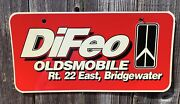 Difeo Dealership License Plate Oldsmobile Route 22 East Bridgewater New Jersey