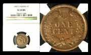 1909-s 1c Indian Vf20bn Ngc-key Date-mintage Of 309000 Indian Head Cent