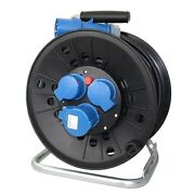 Marine Accessoires Cee Cable Drum 25m 230v 16a 1xcee + 2x Schuko Plug