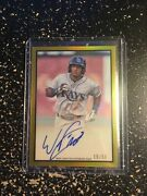 2019 Bowman Heritage Wander Franco Gold Refractor Auto 15/50 Rookie Prospect