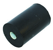Board Equipment Side Roller Black Rubber With Bushing 100 Mm