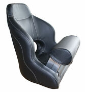 Boat Seatflip-up Black With Light-colored Seams