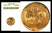 1931-s 1c Ms65rd Anacs-lincoln Cent