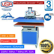 31x39in 7000w Pneumatic Slide Out Drawer Large Format T-shirt Heat Press Machine