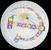 Russian Propaganda Soviet Ussrporcelain Large Round Platter Hammer And Sikle