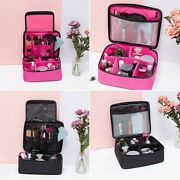 Lady Girl Multifunction Travel Cosmetic Bag Makeup Case Pouch Toiletry Organizer