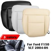 Driver Side Bottom Leather Seat Cover For 2005-2008 Ford F150 Lariat Black Color