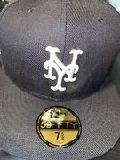 7 5/8 New York Mets Black Subways Series Red Bottom Fitted Hat
