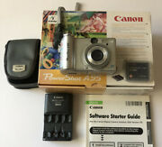Canon Powershot A95 5.0mp Digital Camera - Working - Includes Memory Card And Case
