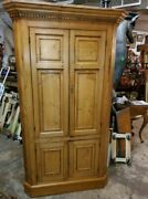 Antique Pine Corner Cabinet – Early Hand Made – Primitive – Very Nice