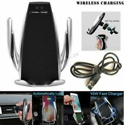 Qi 10w Car Wireless Phone Charger Auto Clamping Fast Charging Phone Holder Mount