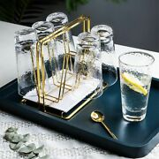 Water Draining Cup Holder Household Gold Cup Rack Living Room Kitchen Organiser
