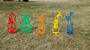 Garden Gnomes 20 Overall 14 Above Stake Multi Color Cnc Plasma Metal Art Sign
