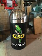 Vintage Style Polly Gas Gasoline Trash Can Ss Top Gas Pump Station
